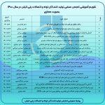 تقویم آموزشی انجمن صنفی تولید کنندگان لوله و اتصالات پلی اتیلن در سال ۱۴۰۰ بصورت مجازی